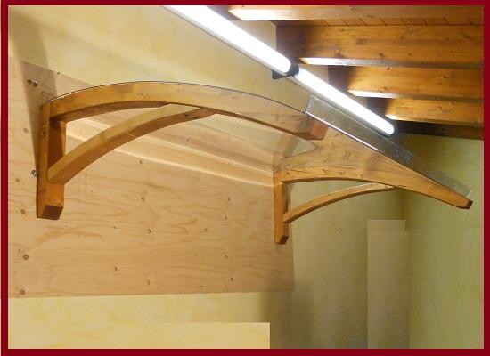 PENSILINA IN LEGNO LAMELLARE! Mod. LEGNO ONDA copertura pensiline tettoia legno  eBay