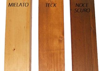 Colori legno standard