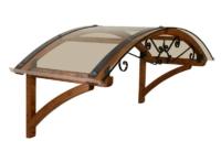 Pensilina in legno Alba Riccio