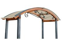 Copri cancello legno Alba Riccio