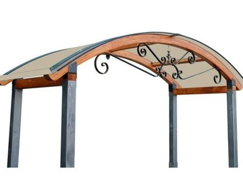 Copri cancello legno Alba-Riccio
