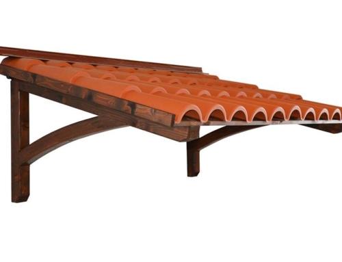 Pensilina in legno Coppi Onda