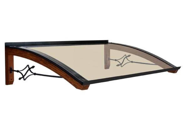 Pensilina in legno modello Legno-Foglia
