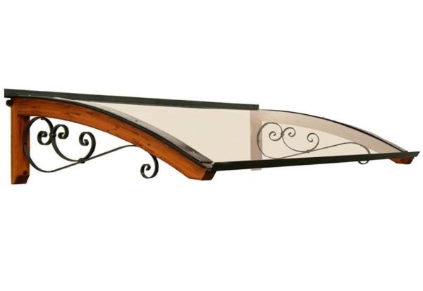 pensilina in legno riccio