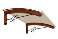 Pensilina in legno scontata low cost foglia