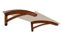 Pensilina in legno scontata low cost onda
